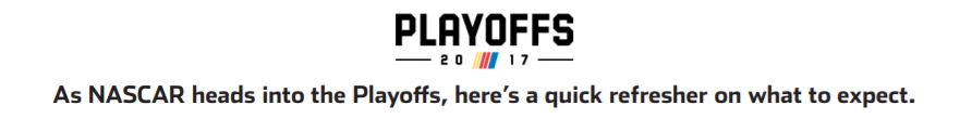 nascar playoffs header